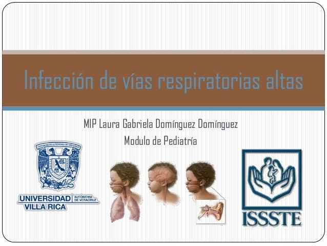 MIP Laura Gabriela Domínguez Domínguez Modulo de Pediatría Infección de vías respiratorias altas