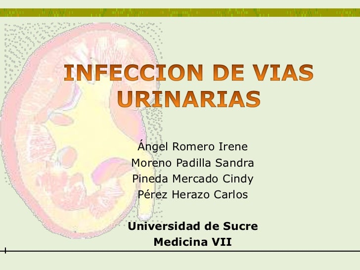 INFECCION DE VIAS URINARIAS<br />Ángel Romero Irene <br />Moreno Padilla Sandra<br />Pineda Mercado Cindy<br />Pérez Heraz...