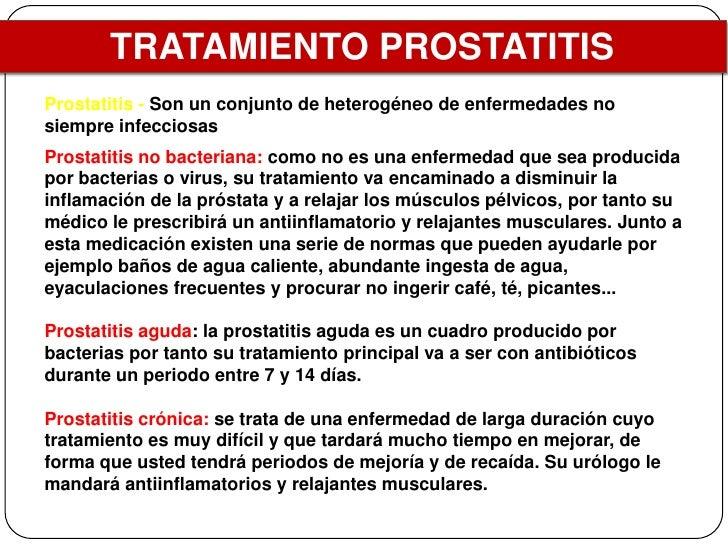 medicacion para prostatitis