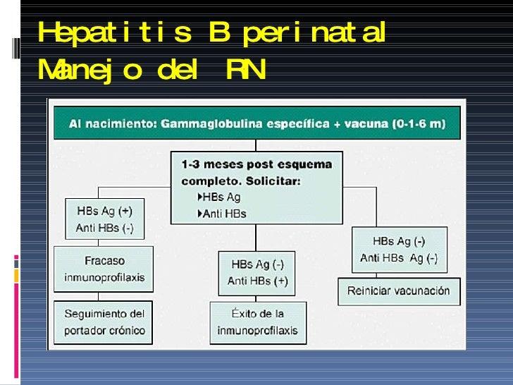 Hepatitis B perinatal Manejo del RN