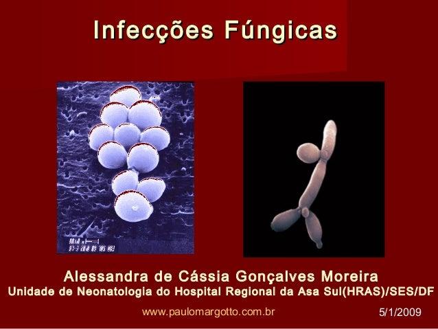 Infecções FúngicasInfecções Fúngicas Alessandra de Cássia Gonçalves Moreira Unidade de Neonatologia do Hospital Regional d...