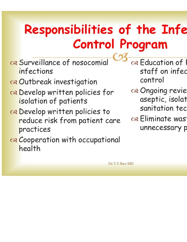 outline procedures for infection control in The ada's guidelines for infection control describes the infection control procedures dental practitioners and their clinical support staff are expected to follow in a dental practice it outlines the primary responsibilities of dental.