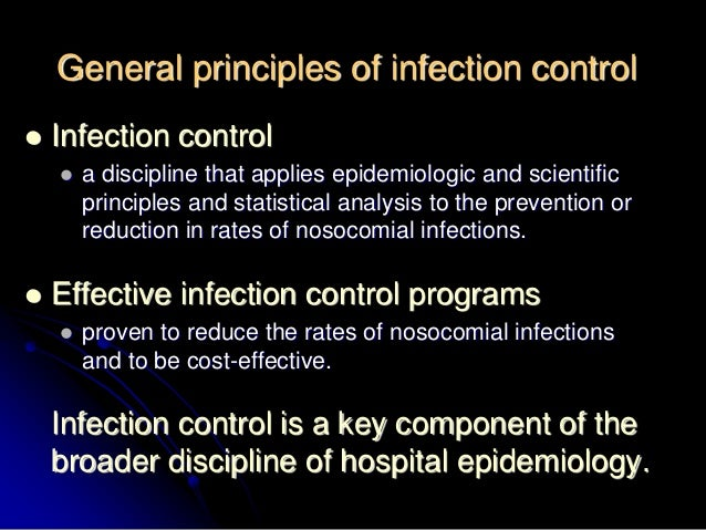Notes on the ten principles of disease control and prevention