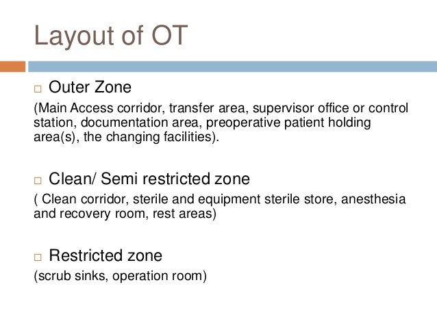sterile zone in operation theatre