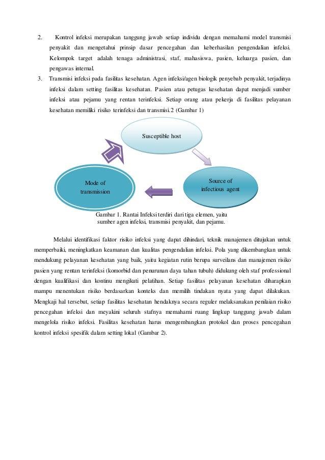 2. Kontrol infeksi merupakan tanggung jawab setiap individu dengan memahami model transmisi penyakit dan mengetahui prinsi...