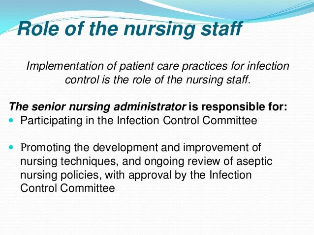 role of infection control nurse