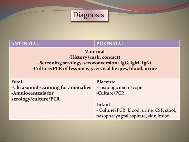 Infection in neonate