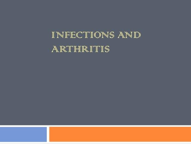 INFECTIONS ANDARTHRITIS