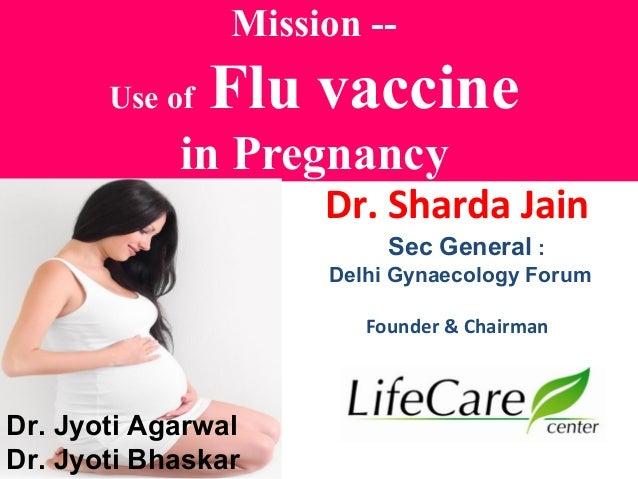 how to flu vaccine in pregnancy