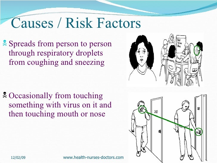 Causes / Risk Factors <ul><li>Spreads from person to person through respiratory droplets from coughing and sneezing </li><...