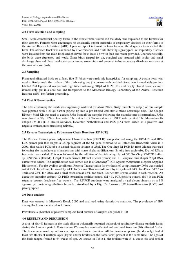Infectious diseases research paper