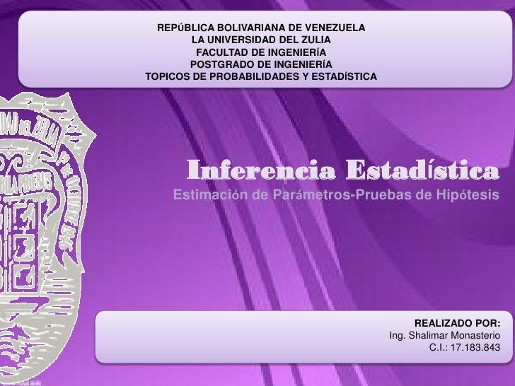 REPÚBLICA BOLIVARIANA DE VENEZUELA        LA UNIVERSIDAD DEL ZULIA         FACULTAD DE INGENIERÍA       POSTGRADO DE INGEN...