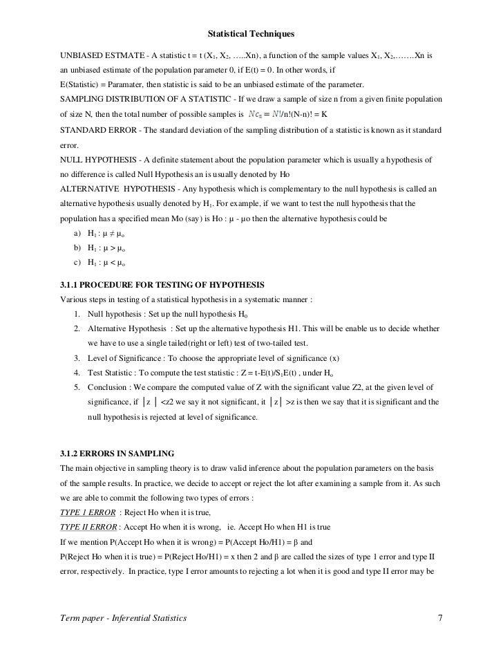 inferential statistics essay Descriptive vs inferential statistics - - difference between descriptive and inferential statistics.