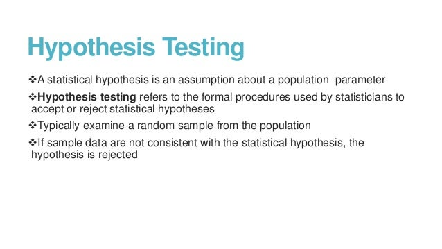 Medical Statistics Part-II:Inferential statistics