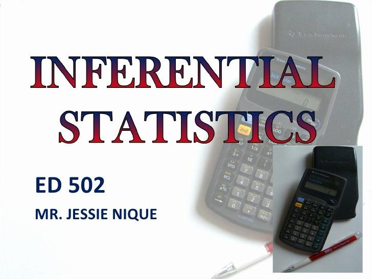 ED 502 MR. JESSIE NIQUE