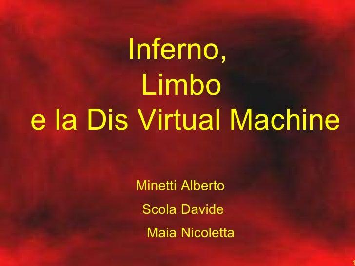Inferno,  Limbo  e la Dis Virtual Machine Minetti Scola Maia Alberto Davide Nicoletta