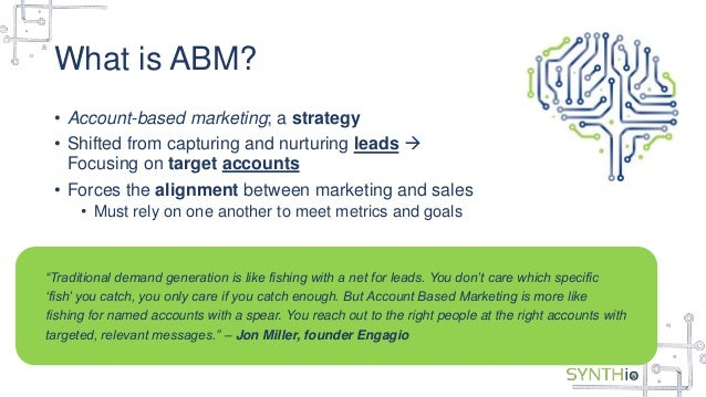 Infer and Synthio Webinar Slides: #ABM for the Win...But What About L…