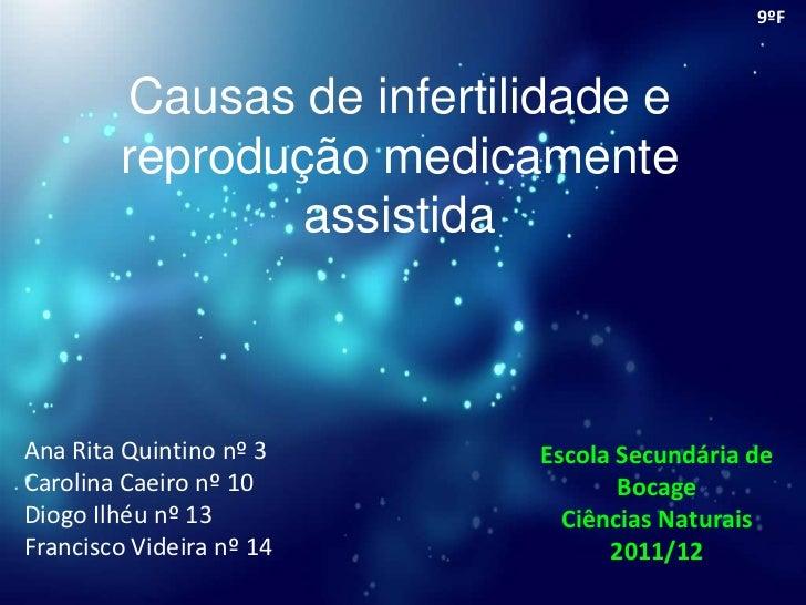 9ºF         Causas de infertilidade e        reprodução medicamente                assistidaAna Rita Quintino nº 3     Esc...