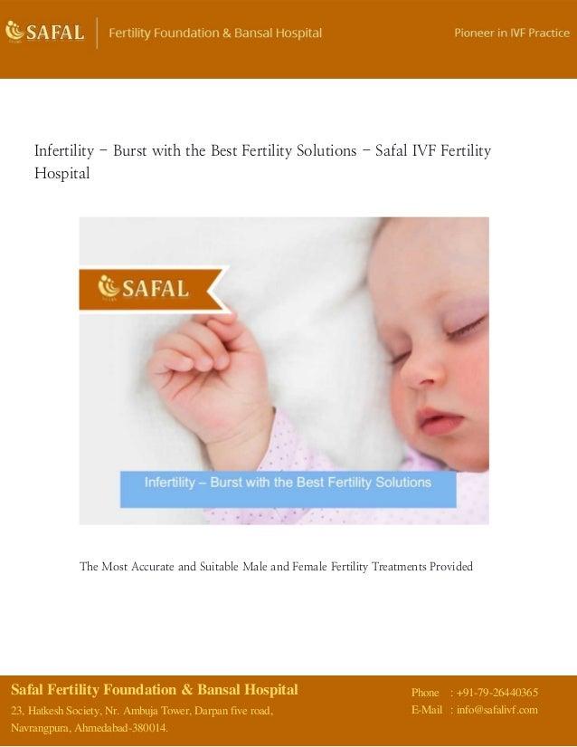Safal Fertility Foundation & Bansal Hospital 23, Hatkesh Society, Nr. Ambuja Tower, Darpan five road, Navrangpura, Ahmedab...