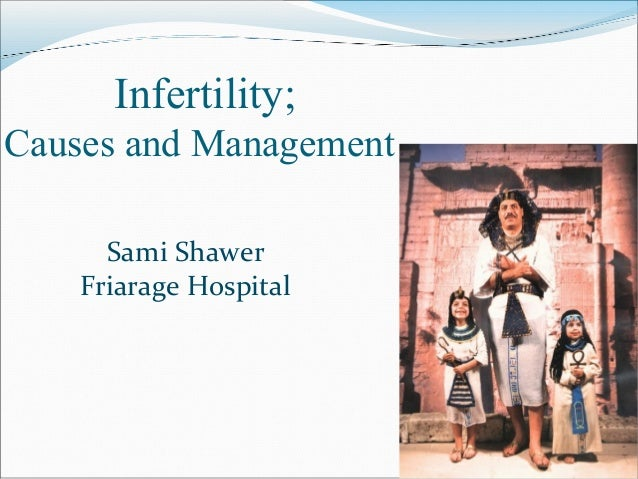 Infertility; Causes and Management Sami Shawer Friarage Hospital