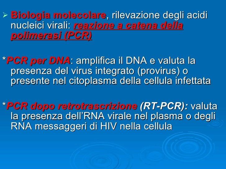 Infezione da hiv lezione - Aids periodo finestra ...