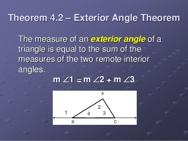 Triangle sum theorem - Sum of the exterior angles of a triangle ...