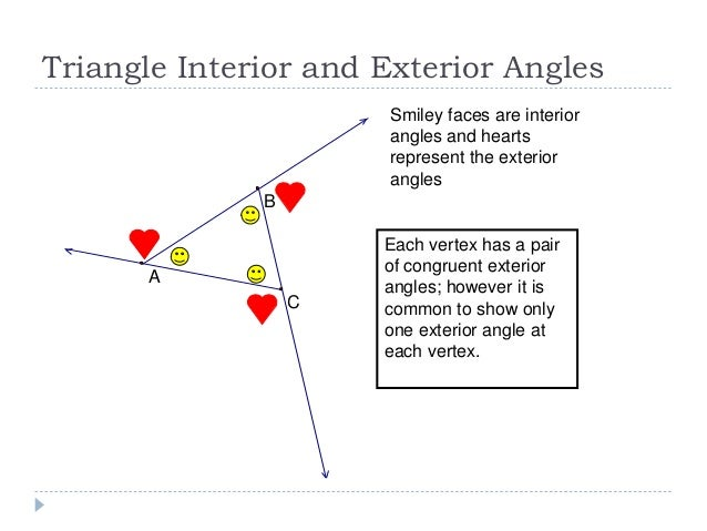 Triangle sum theorem - Sum of interior and exterior angles ...