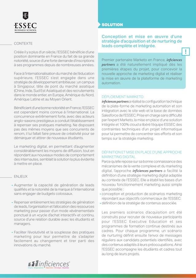 Inficiences - ESSEC - Case Study  Slide 2