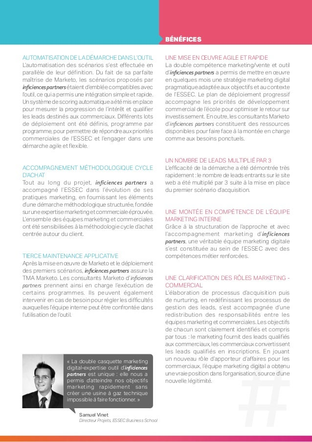 Inficiences - ESSEC - Case Study  Slide 3