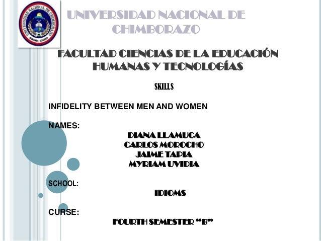 UNIVERSIDAD NACIONAL DECHIMBORAZOFACULTAD CIENCIAS DE LA EDUCACIÓNHUMANAS Y TECNOLOGÍASSKILLSINFIDELITY BETWEEN MEN AND WO...