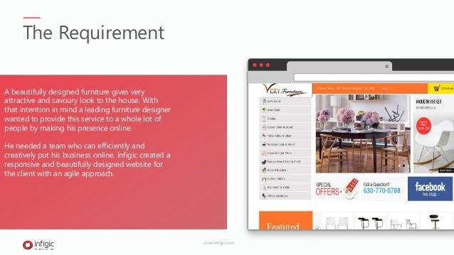 Wordpress website development for Furniture designer & manufacturer in UK Slide 2