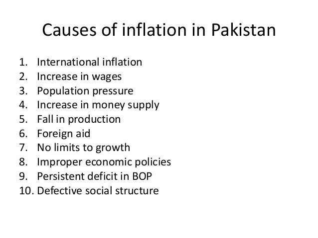 inflation causes and remedies