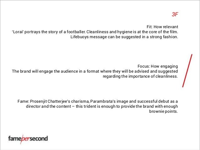 In Film Proposal For The Film Lorai Concerned Brand Lifebuoy