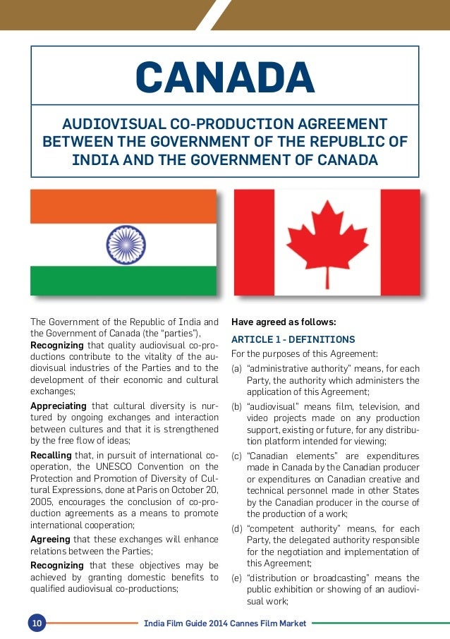 Indias Film Co Production Agreements