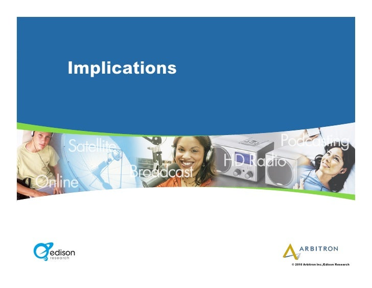 Implications                    © 2010 Arbitron Inc./Edison Research