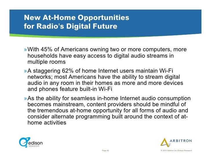 New At-Home Opportunities for Radio's Digital Future  »With 45% of Americans owning two or more computers, more   househo...