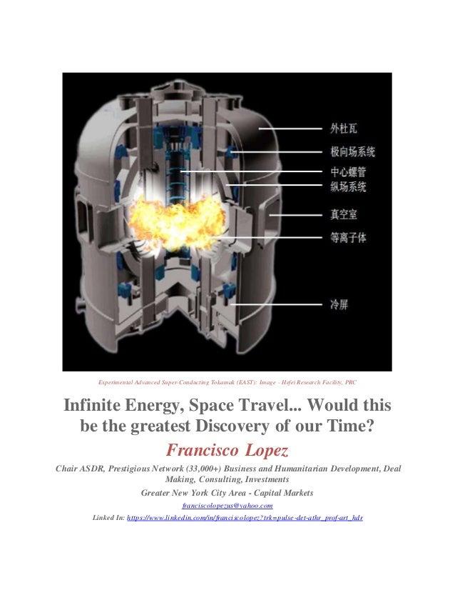 Experimental Advanced Super-Conducting Tokamak (EAST): Image - Hefei Research Facility, PRC Infinite Energy, Space Travel....