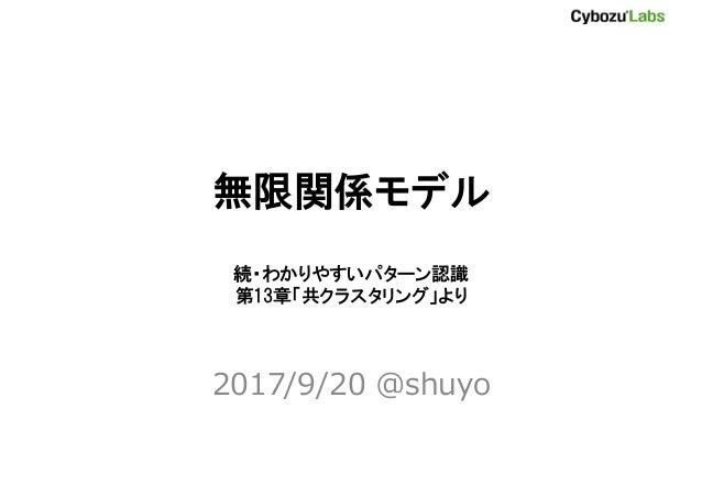 無限関係モデル 続・わかりやすいパターン認識 第13章「共クラスタリング」より 2017/9/20 @shuyo