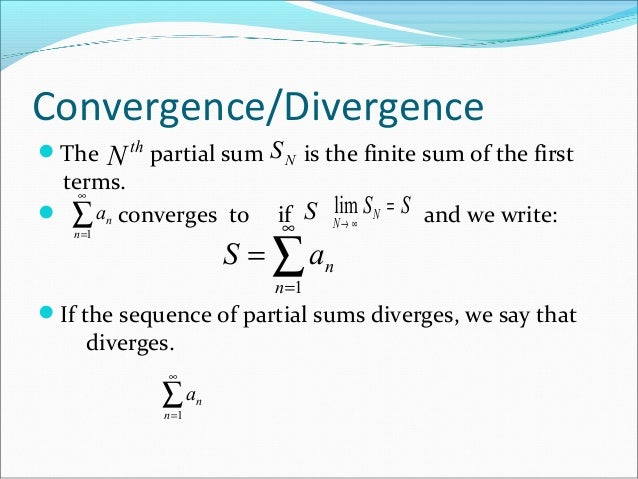 Infinite sequence and series