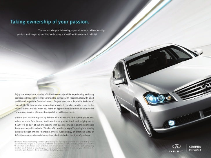 Infiniti Certified Pre Owned >> Infiniti Certified Pre Owned Brochure