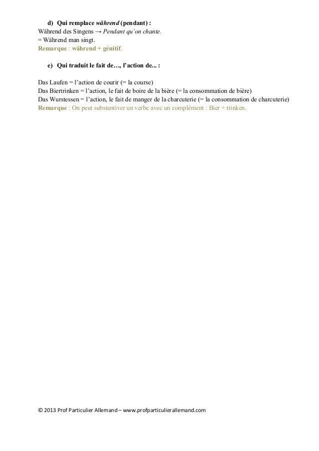 Les Différentes Formes De Linfinitif En Allemand