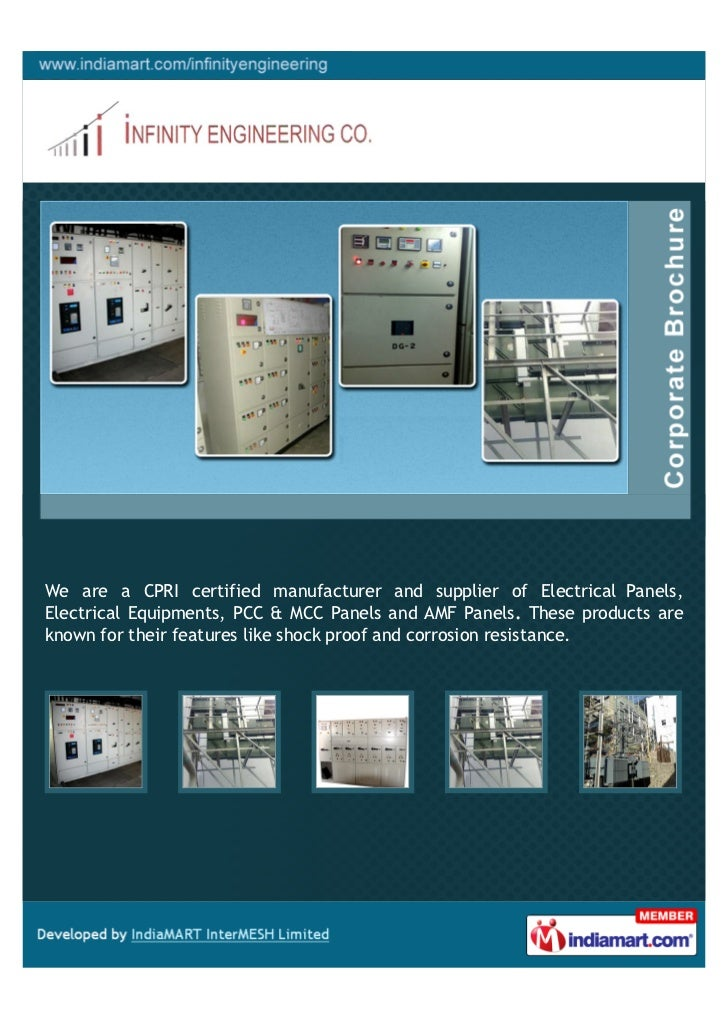 We are a CPRI certified manufacturer and supplier of Electrical Panels,Electrical Equipments, PCC & MCC Panels and AMF Pan...