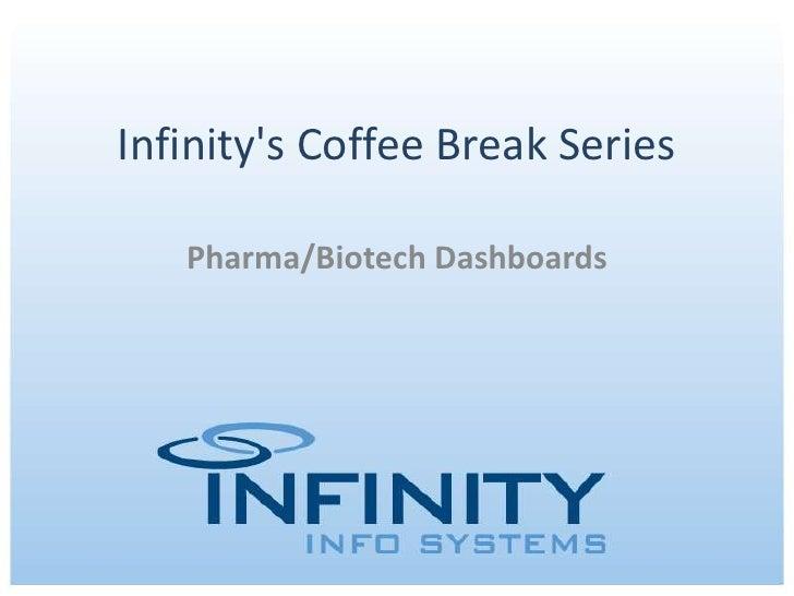 Infinity's Coffee Break Series<br />Pharma/Biotech Dashboards<br />