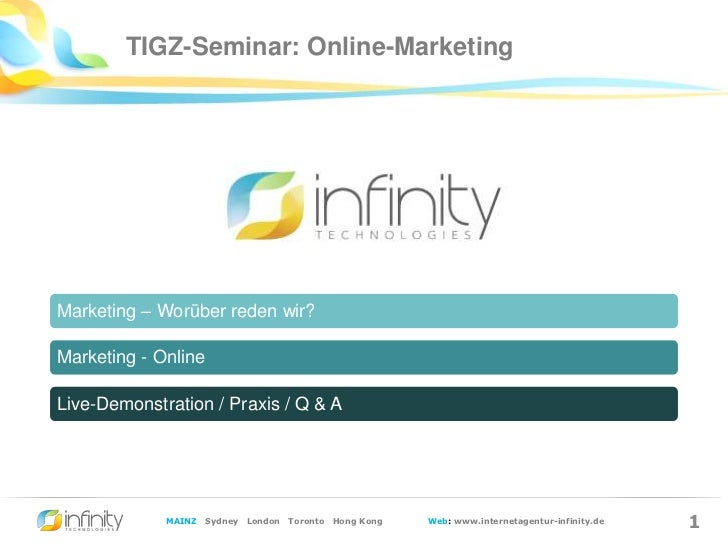 Infinity-Seminar zum Thema Online-Marketing