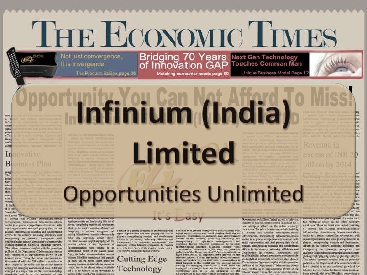 Infinium (India) Limited<br />Opportunities Unlimited<br />Infinium (India) Ltd.  Investment Opportunity<br />