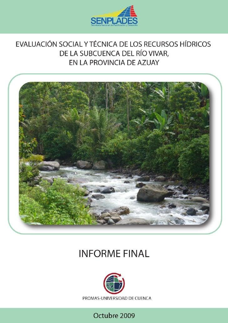 PROMAS-UNIVERSIDAD DE CUENCA                                                          Informe del Inventario de la Subcuen...