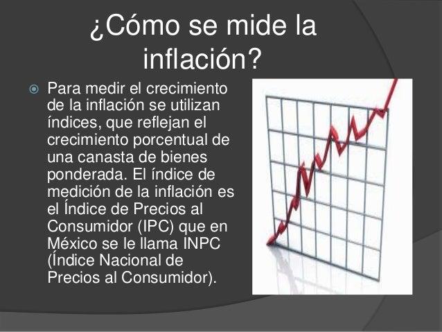 ¿Cómo se mide lainflación? Para medir el crecimientode la inflación se utilizaníndices, que reflejan elcrecimiento porcen...