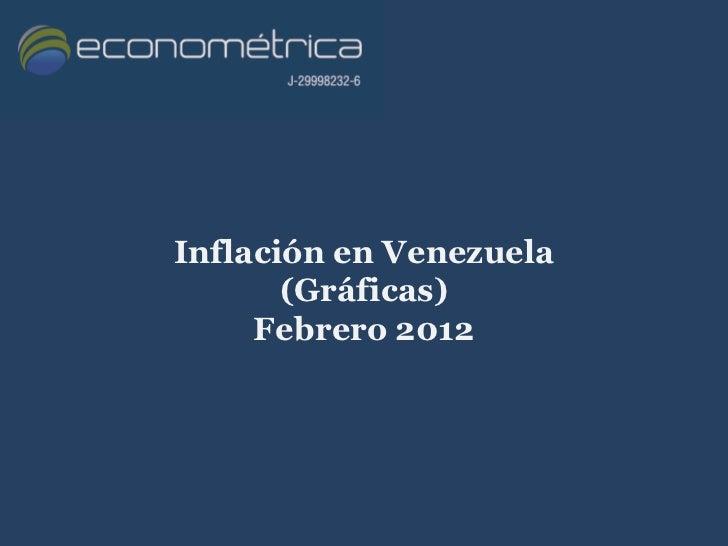 Inflación en Venezuela       (Gráficas)     Febrero 2012