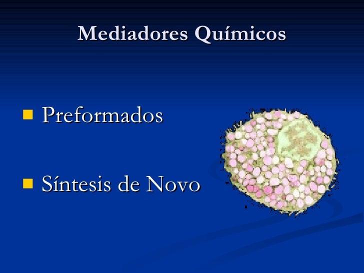 Mediadores Químicos <ul><li>Preformados </li></ul><ul><li>Síntesis de Novo </li></ul>