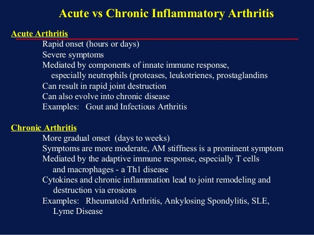 what is acute arthritis